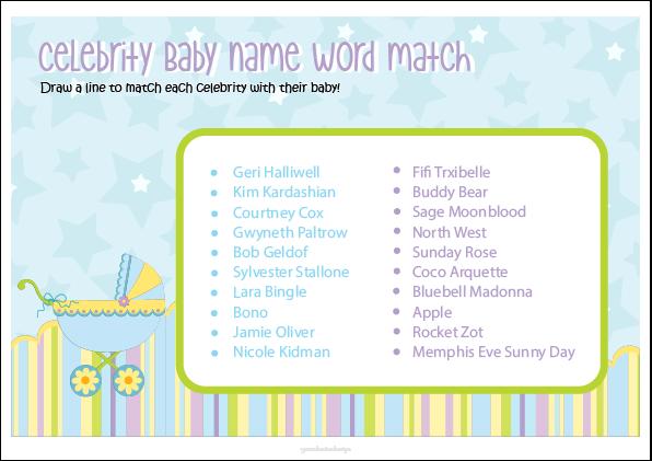 Baby Shower Games Gracelouise Design